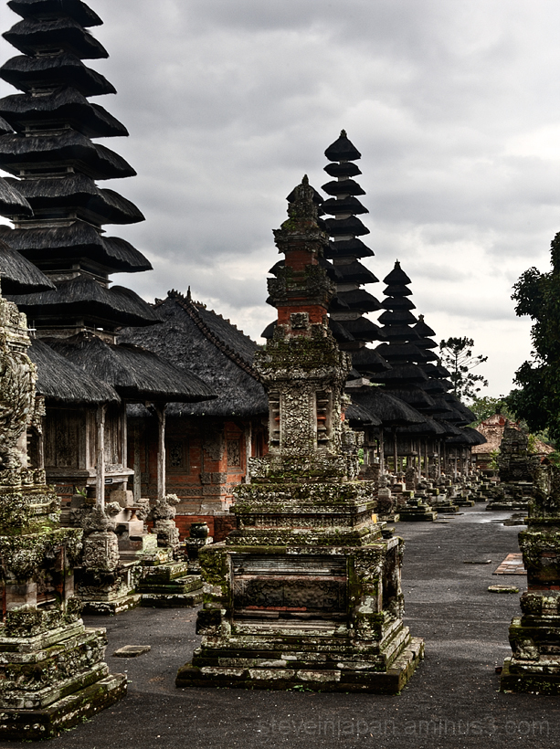 The inner courtyard of Taman Ayun Temple in Bali.