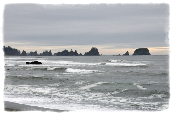 Point of Arches along Shi Shi Beach.