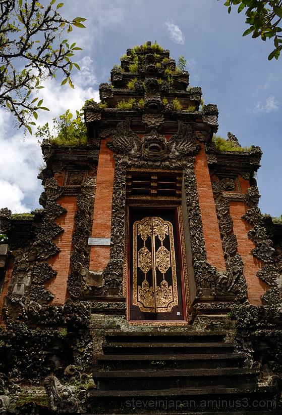 The royal palace in Ubud, Bali.