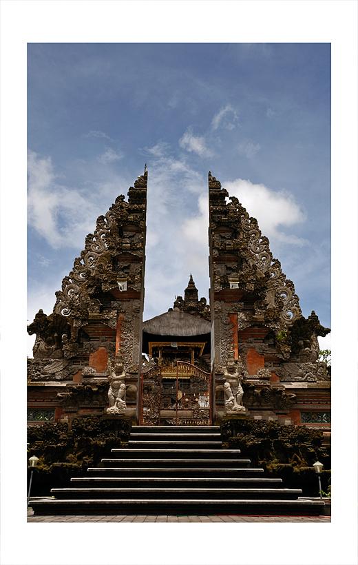 Pura Puseh, a temple, in Ubud, Bali.