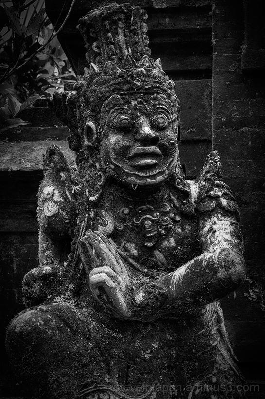 An old sculpture at Pura Luhur Batukau in Bali.
