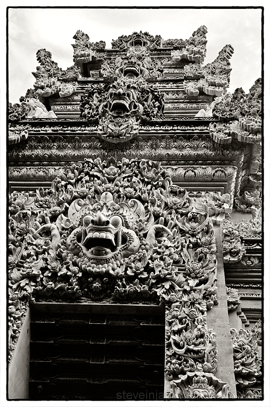 The gate to a royal compound in Ubud, Bali.