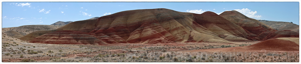 The Painted Hills of Oregon panorama.