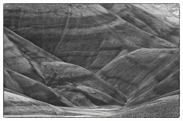 Detail of the Painted Hills in Oregon.