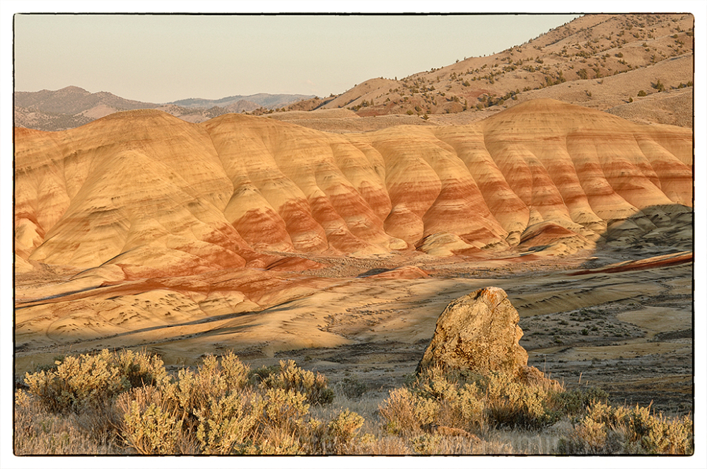 The Painted Hills from Carroll Rim Trail.