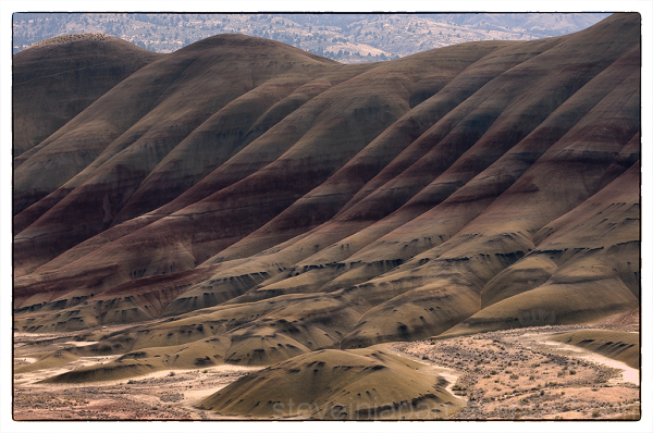The Painted Hills from Overlook Trail.