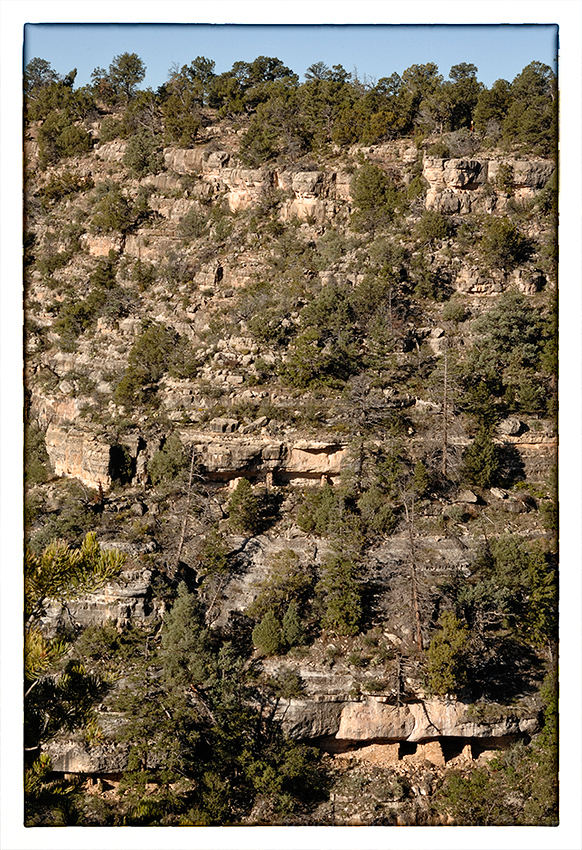 A cliff dwelling at Walnut Canyon NM.