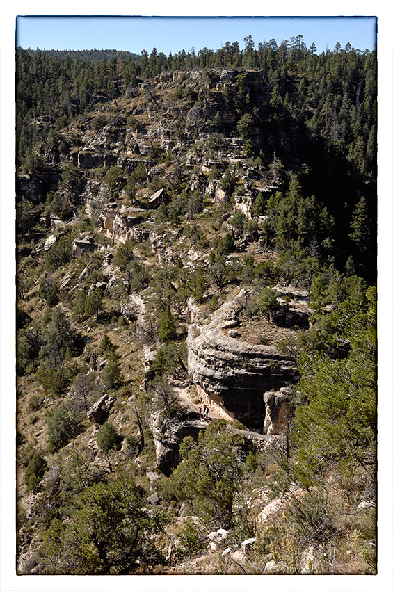 "The ""island"" at Walnut Canyon NM."