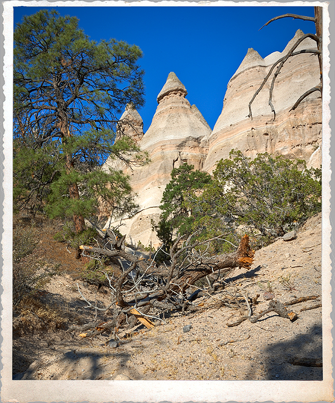 Tent rocks at Tent Rocks National Monument.