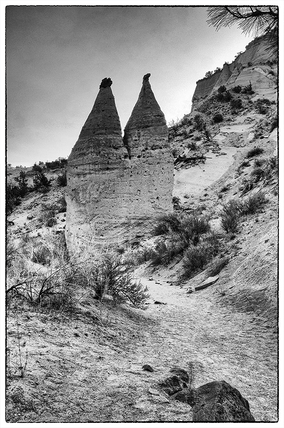 Twin tent rocks at Tent Rocks NM.