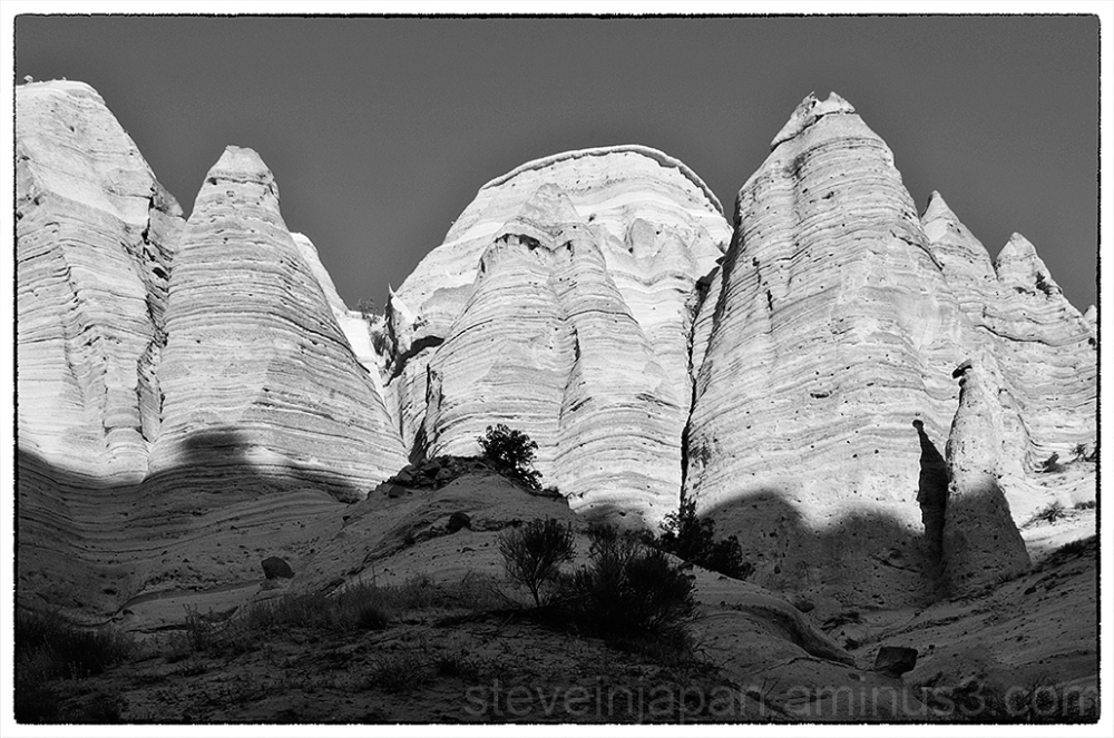 White cliffs at Tent Rocks NM.