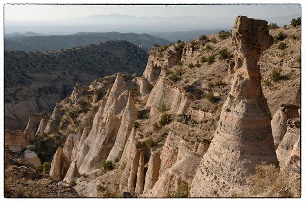 Exploring the mesa top at Tent Rocks NM.
