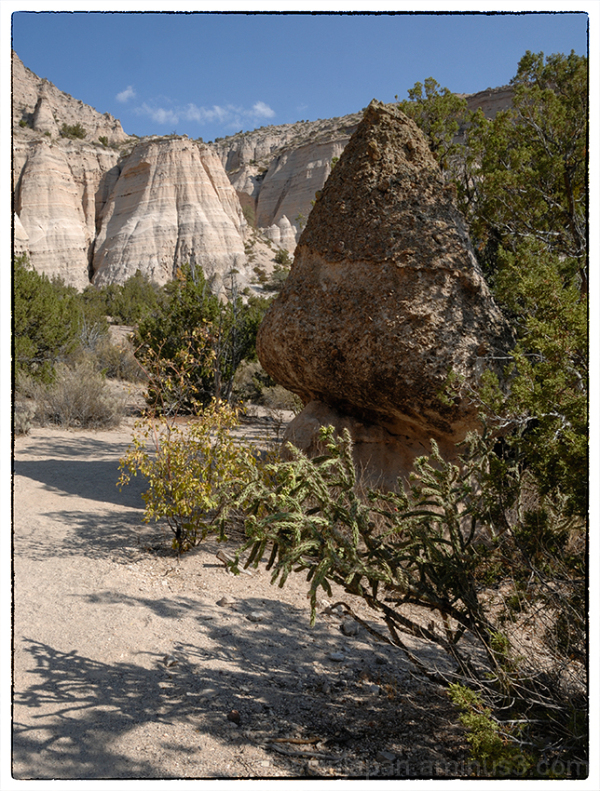 A small tent rock at Tent Rocks NM.