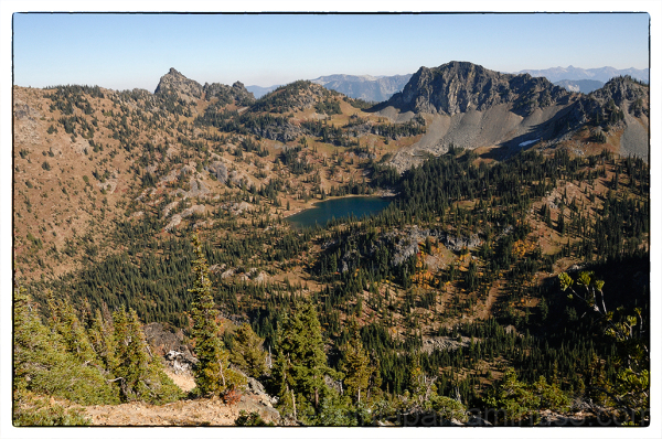 Crystal Lake from Crystal Peak.