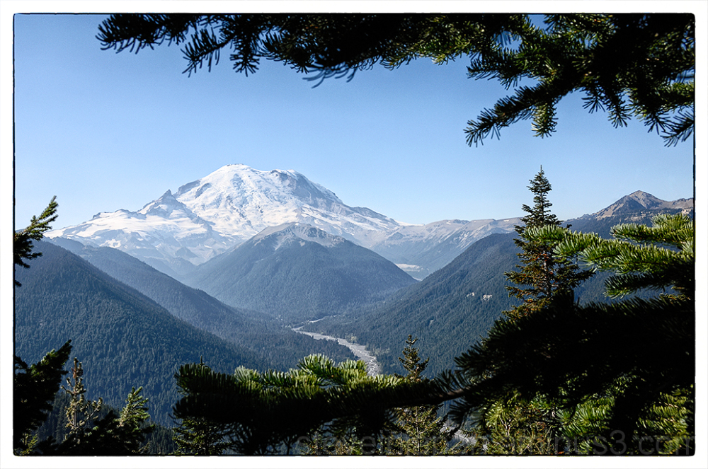 Mount Rainier from the Crystal Peak trail.