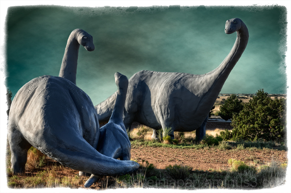 Dinosaurs seen in Santa Fe, NM.