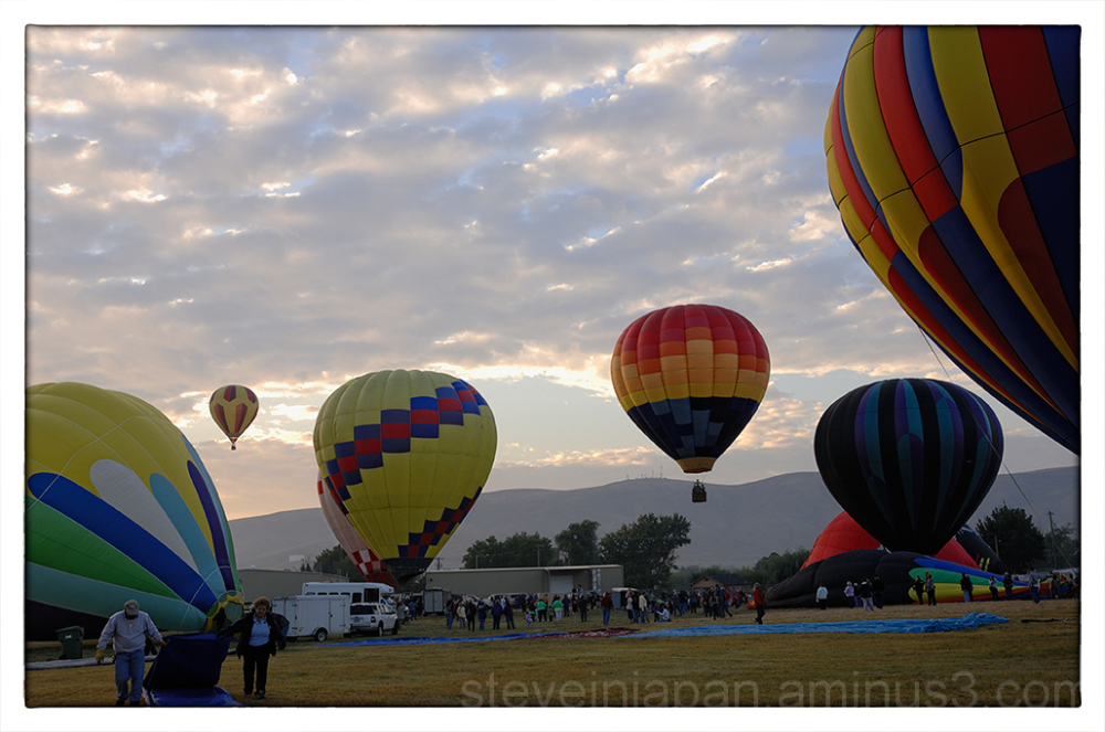 Lots of activity at the Prosser Balloon Fest.