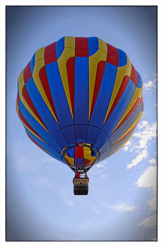 A balloon taking off at the Prosser Balloon Fest.