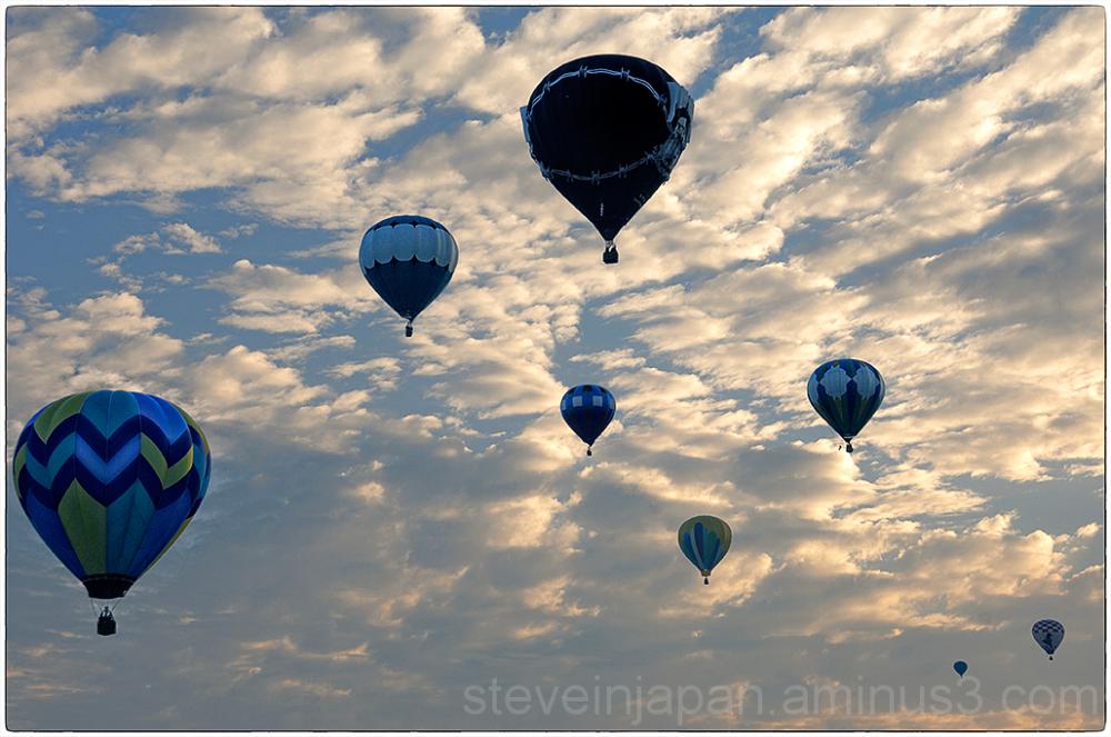 Balloons float away at the Prosser Balloon Fest.