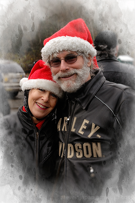 A couple at the Olympia Toy Run.
