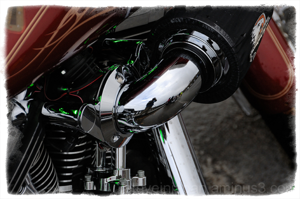 Some bike detail caught at the Olympia Toy Run.