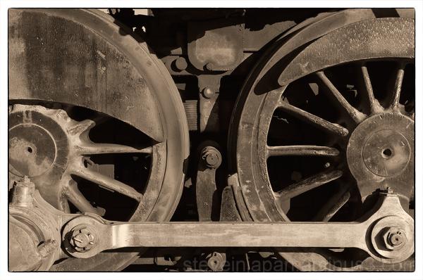 Detail of a steam locomotive.