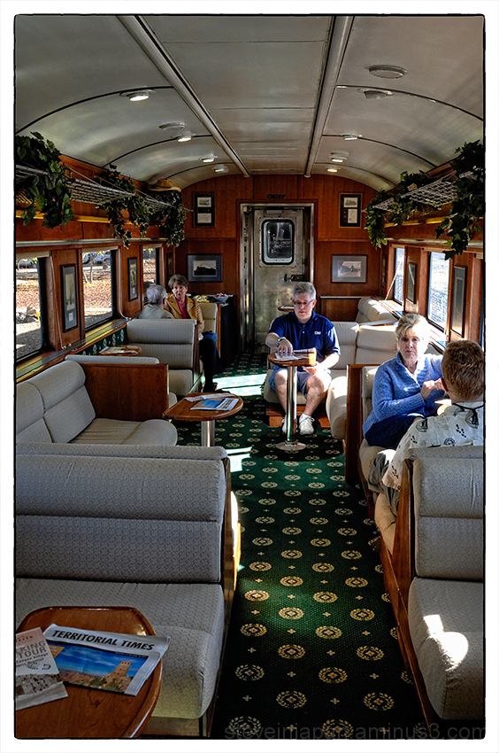 A coach on the Grand Canyon Railway.