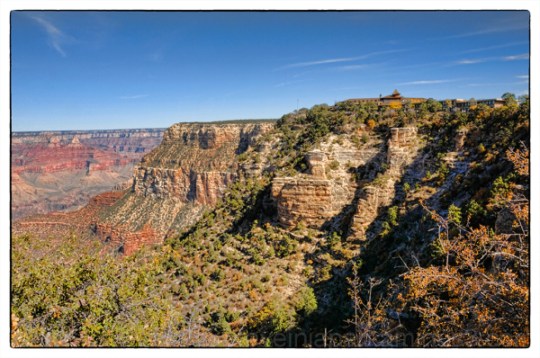 The Grand Canyon at mid-day.