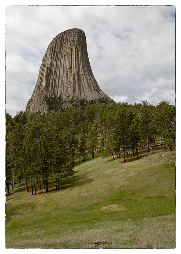 A classic view of Devils Tower.