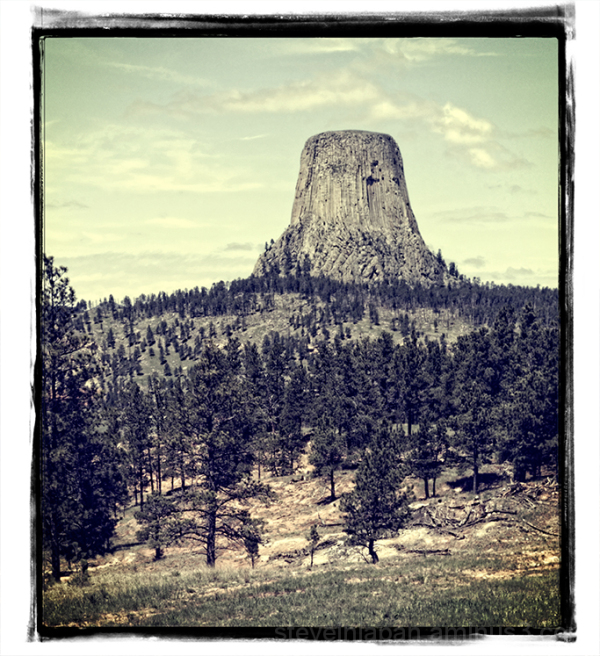 Looking back at Devils Tower NM.