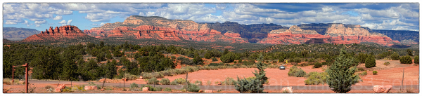 A panorama of Sedona from the high school.