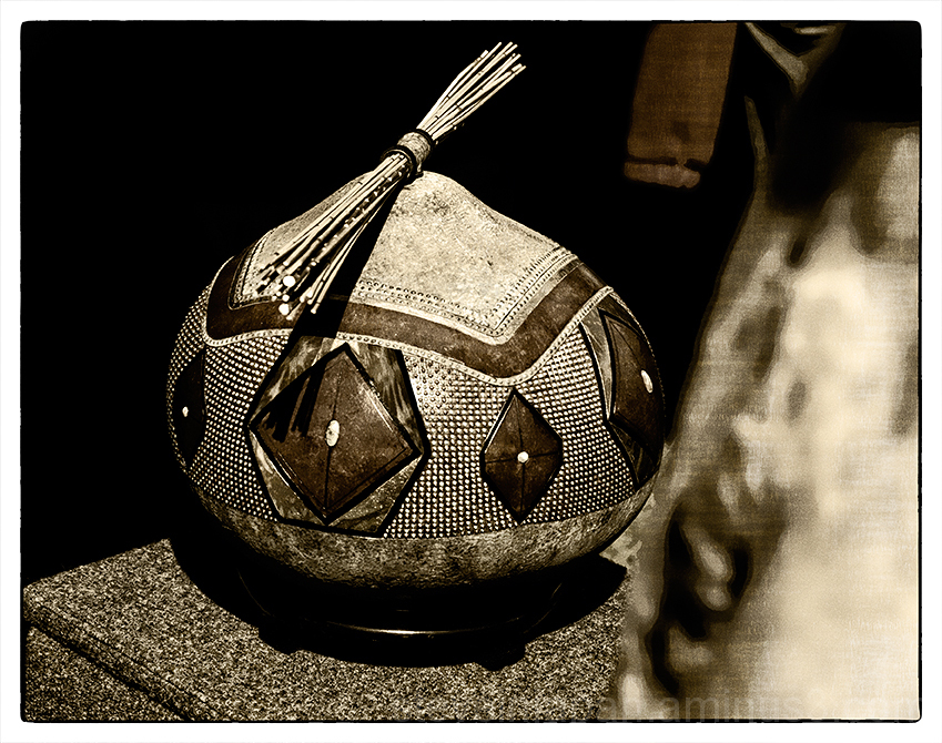 Gourd art at the Sedona Art Fair.
