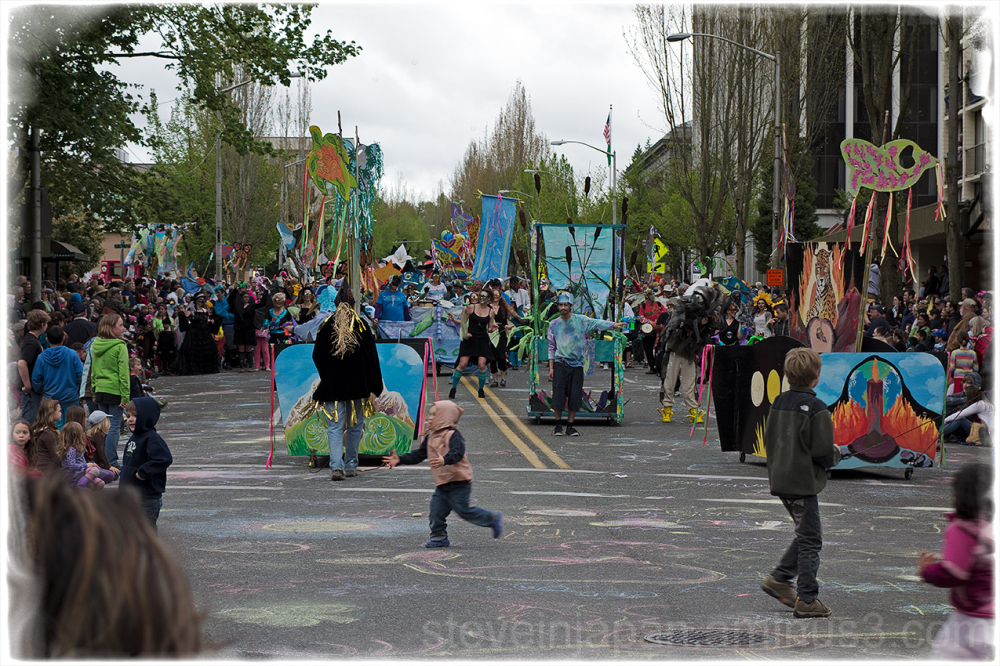 Participants in the Procession of the Species.