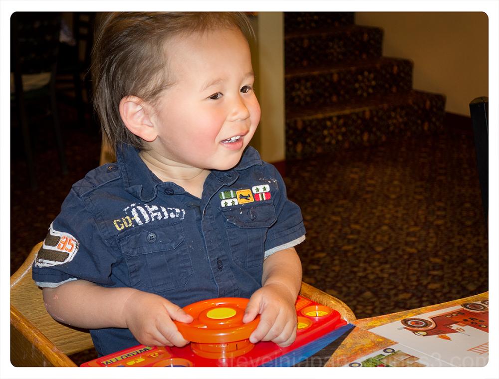 Alexander celebrates his second birthday.