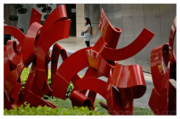Along Orchard Road in Singapore.