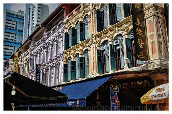 Street shots in Chinatown in Singapore.
