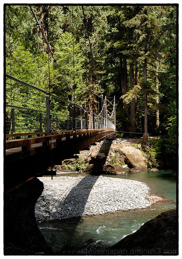 The Staircase Rapids Suspension Bridge.