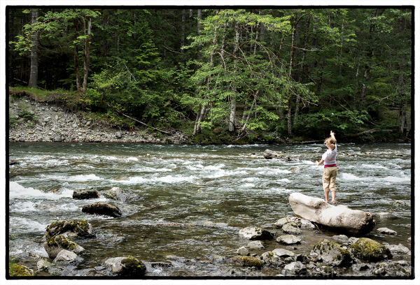 A quiet spot along the Skokomish River.