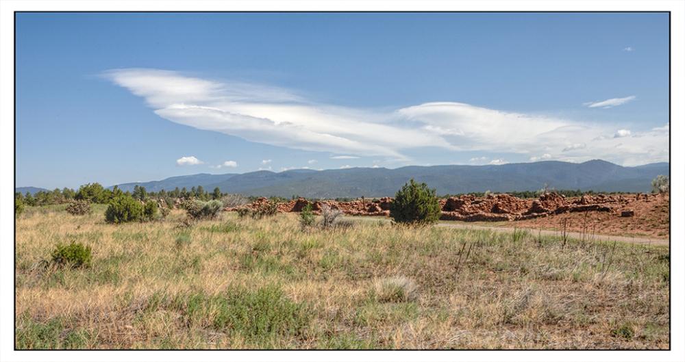 The pueblo ruins at Pecos National HP.