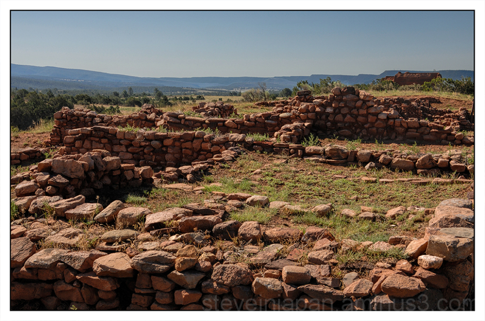 The pueblo ruins at Pecos National HP.