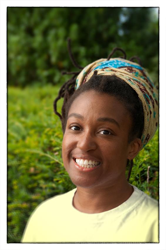 A portrait of Michaela.
