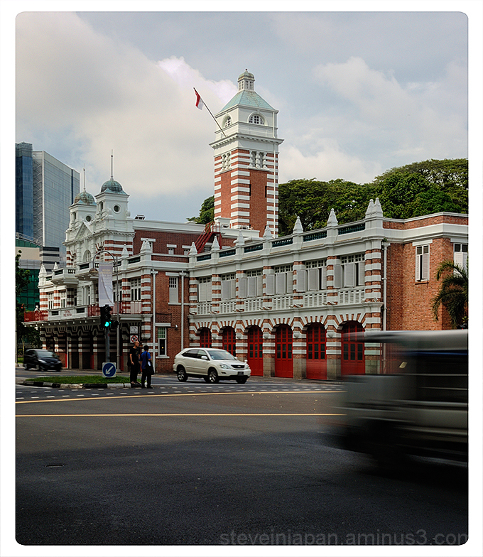 The Central Fire Station in Singapore.