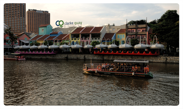 A river cruise near Clarke Quay.