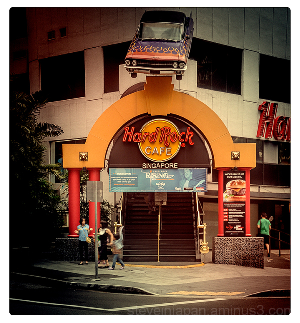 The Hard Rock Cafe in Singapore.