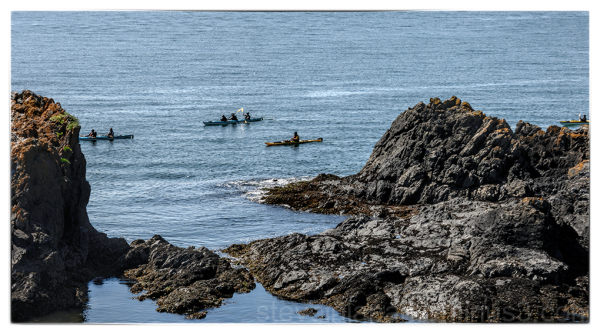 Kayaks near Deception Pass State Park.
