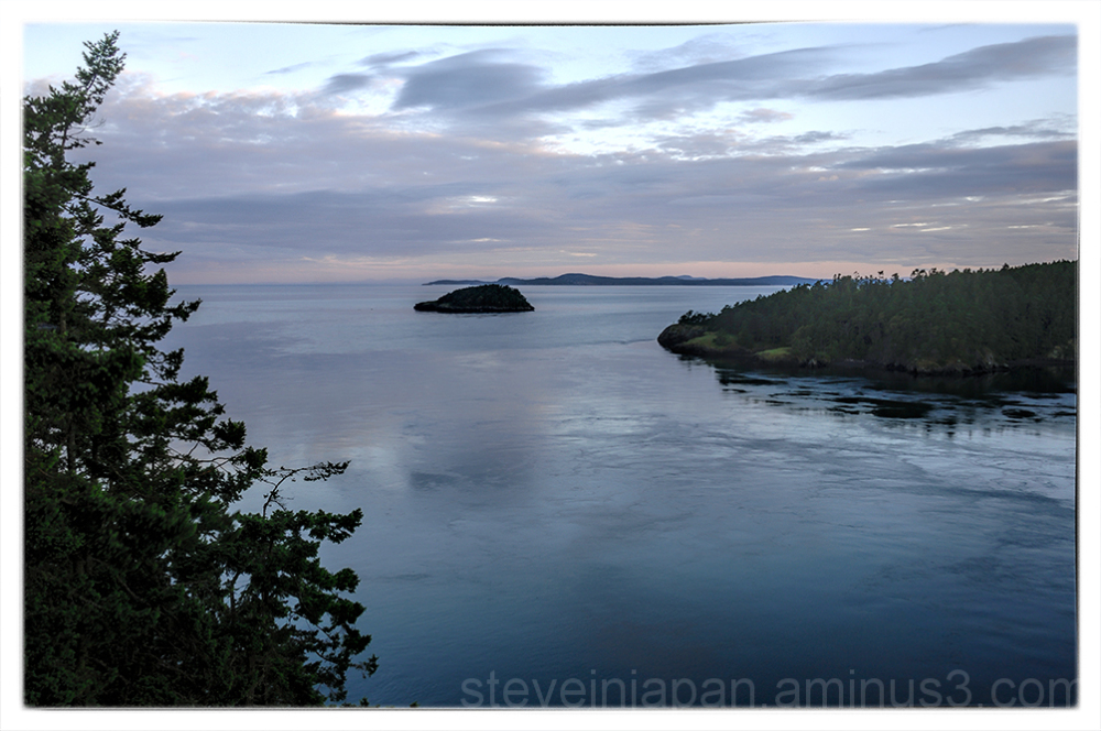 Sunrise at Deception Pass State Park.