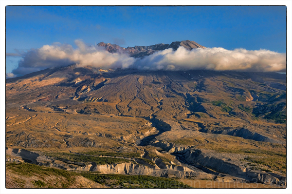 A view of the moody Mount St. Helens.