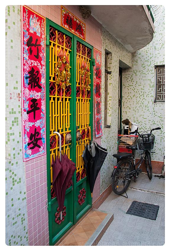 A colorful home at Kat Hing Wai village.