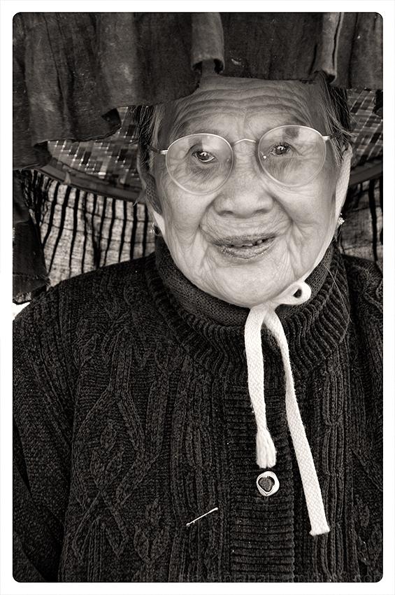 An old woman at Kat Hing Wai.