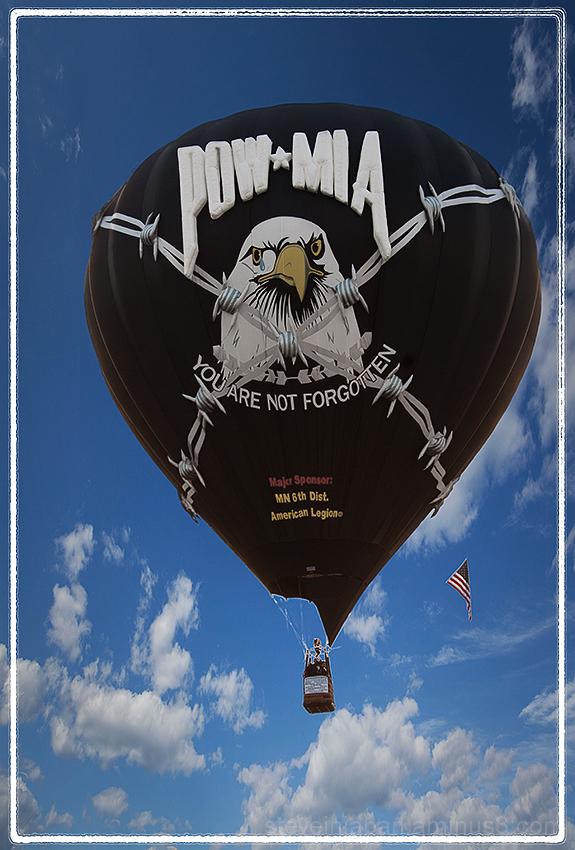 A POW - MIA ballon at the Prosser Balloon Fest.